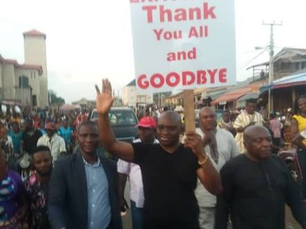 Fayose Bids Ekiti People Farewell As He Takes To The Streets