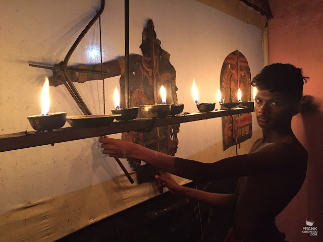 teatro de sombras de Ramachandra pulavar