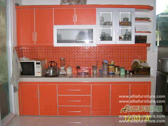 kitchen set single line model orange