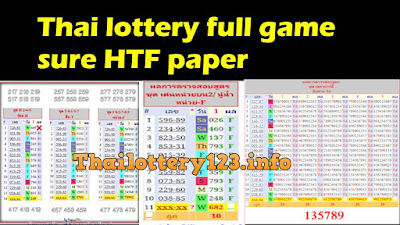 Thai lottery full game sure HTF paper