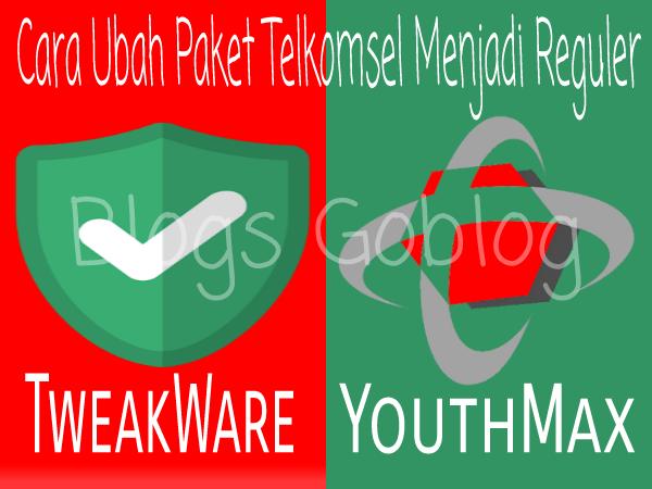 Cara Cara Setting Tweakware Untuk mengubah Kuota Telkomsel YouthMax Terbaru 2019