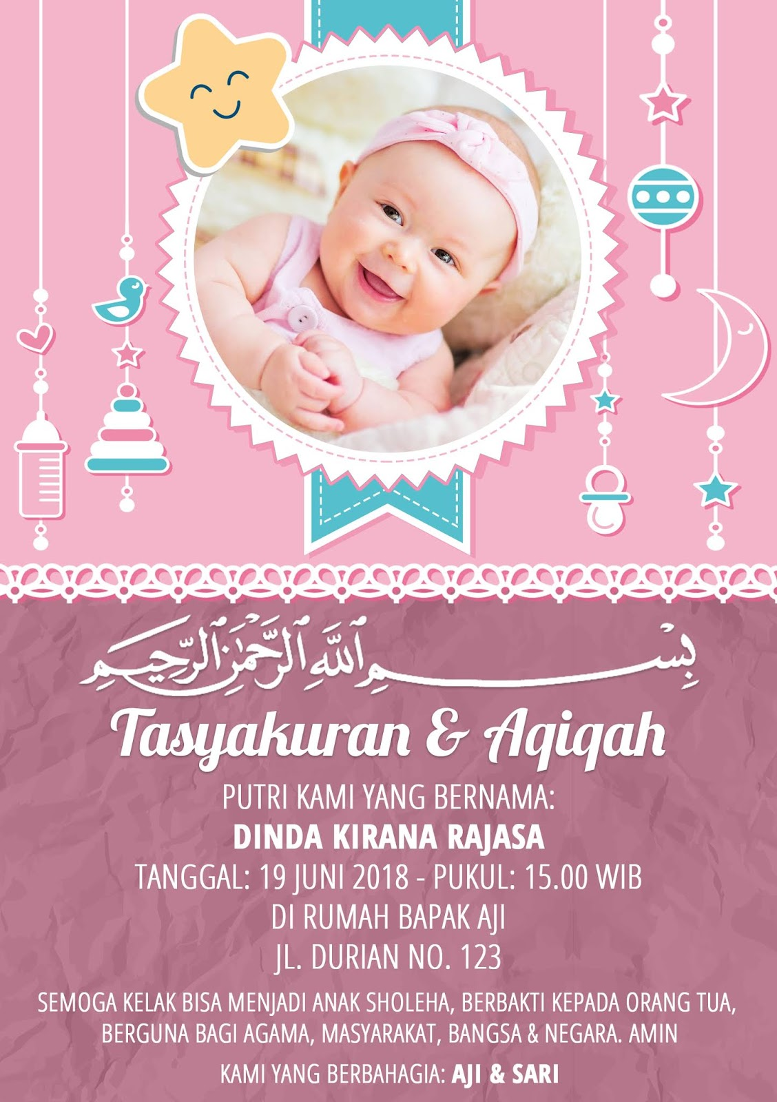 Download Template Undangan Aqiqah Photoshop | TUTORE.ORG ...