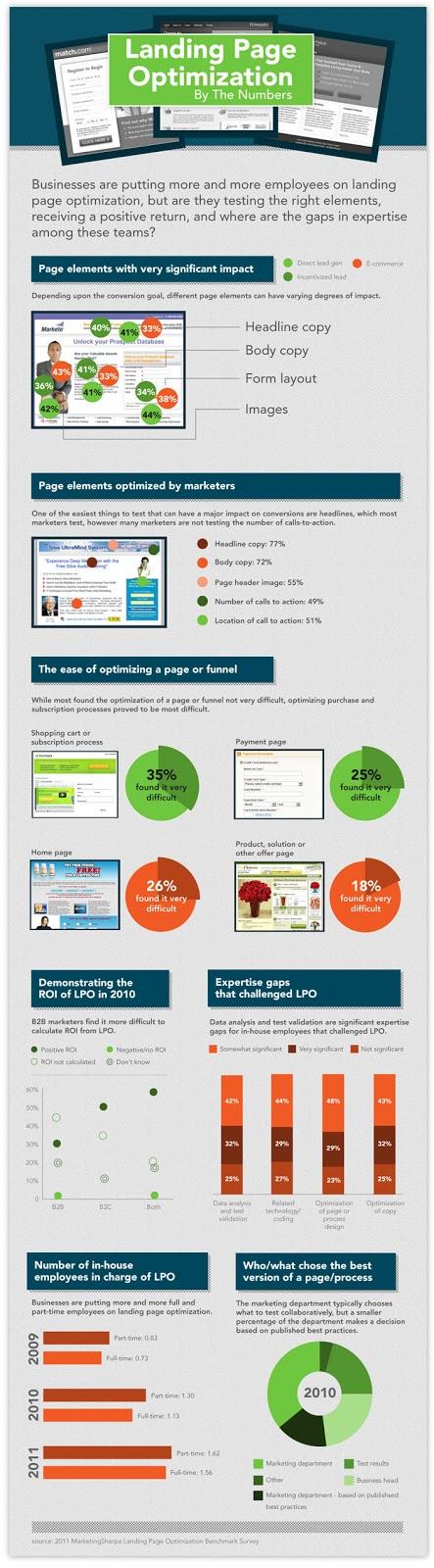 Landing Page Optimization Infographic
