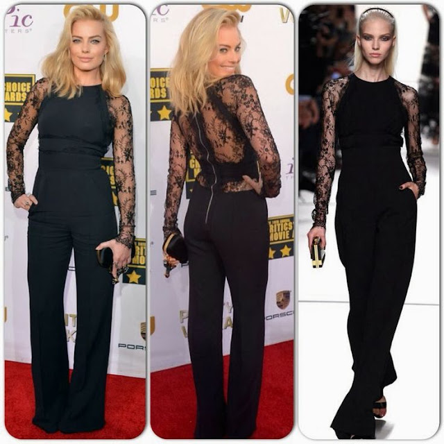 Margot Robbie in Elie Saab – 2014 Critics' Choice Movie Awards
