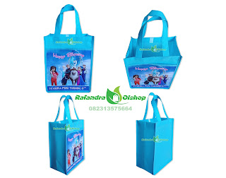 tas souvenir ultah,tas ultah,tas ulang tahun,tas ultah frozen murah, tas bingkisan ultah murah