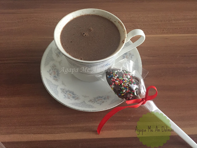 κουταλια με σοκολατα