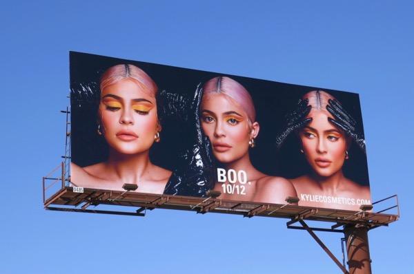 Boo Kylie Cosmetics billboard
