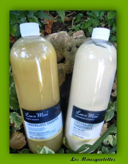 Shampoing et après-shampoing Lindengloss Less is More - Les Mousquetettes©