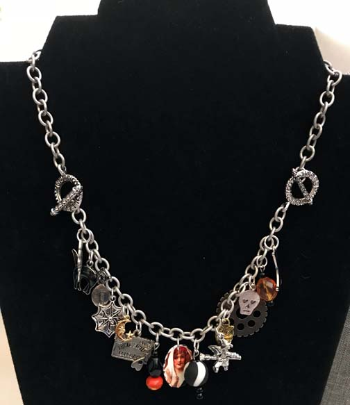 halloween charm braceletnecklaces from baubles brew now available at vintage halloween