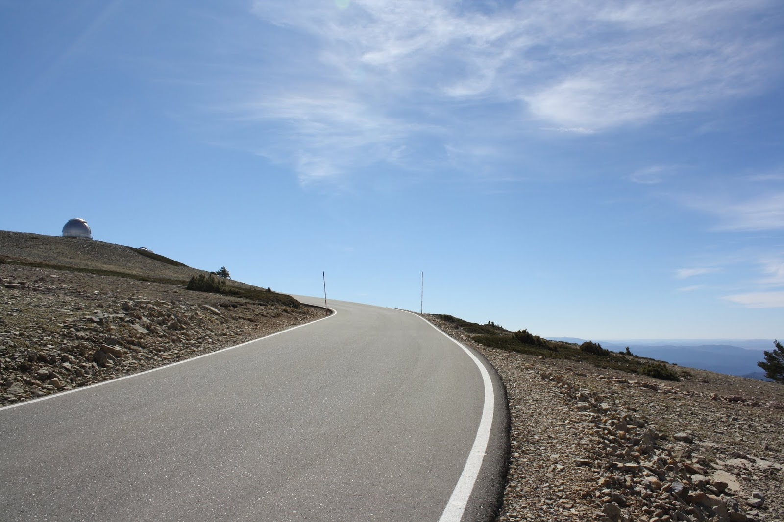 Final metres of road to Javalambre Astrophysical Observatory, Teruel