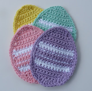 Whiskers & Wool Easter Egg Coaster - Easter #crochet