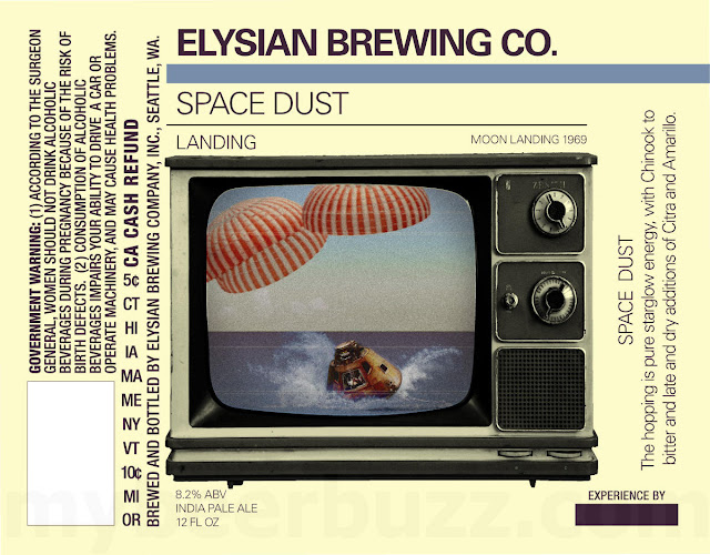 Elysian Adding Space Dust 1969 Moon Landing Packaging - Lift Off & Landing