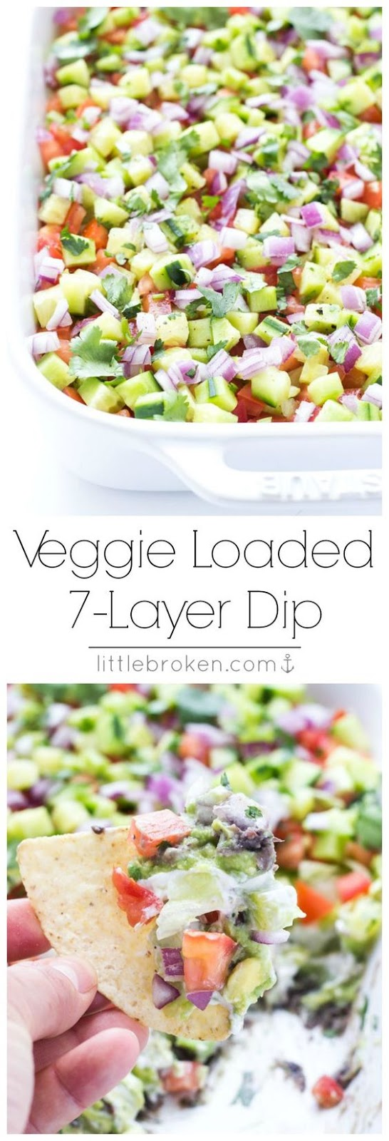 VEGGIE LOADED 7-LAYER DIP #veggie #loaded #7layerdip #healthyfood #healthysnack #healthyrecipes #snackrecipes