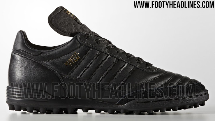Restricción heroína el último  Black & Gold Metallic Adidas Mundial Team 2017 Boots Released - Footy  Headlines