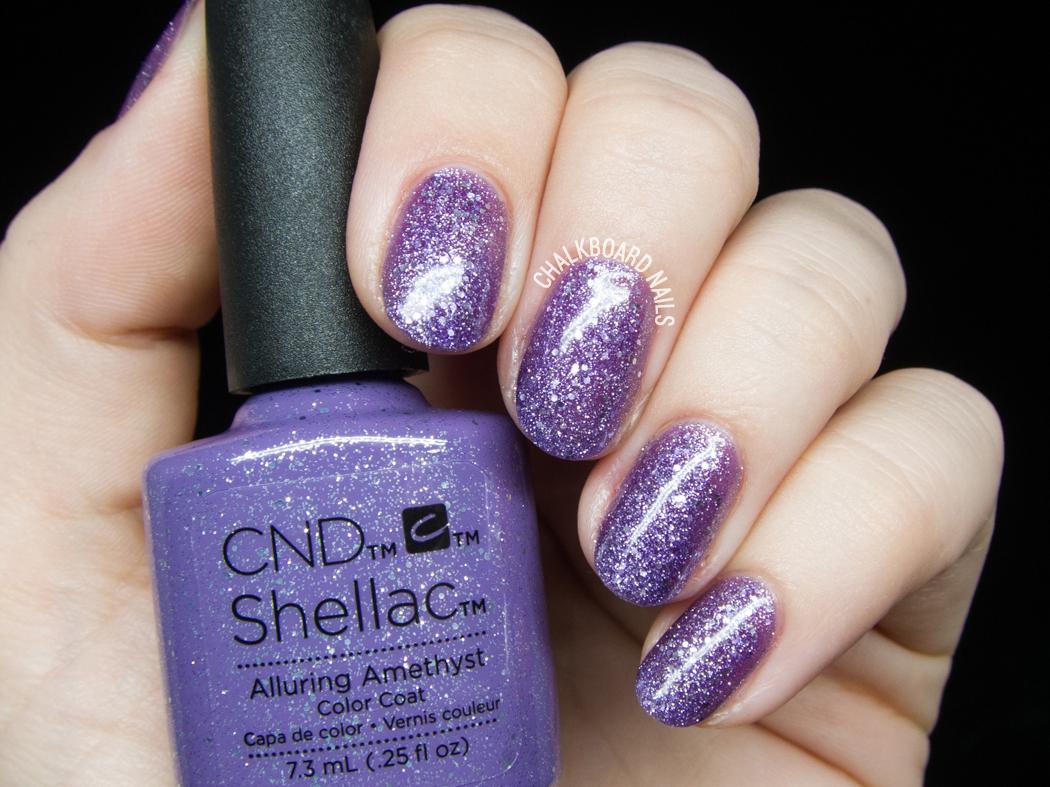 CND Shellac Alluring Amethyst @chalkboardnails