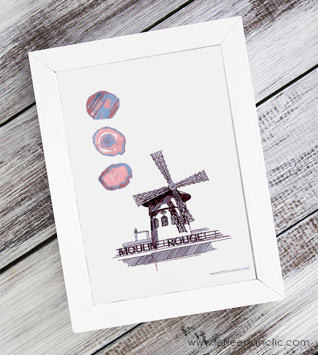 le moulin rouge, affiche, Paris, FLE, le FLE en un 'clic'