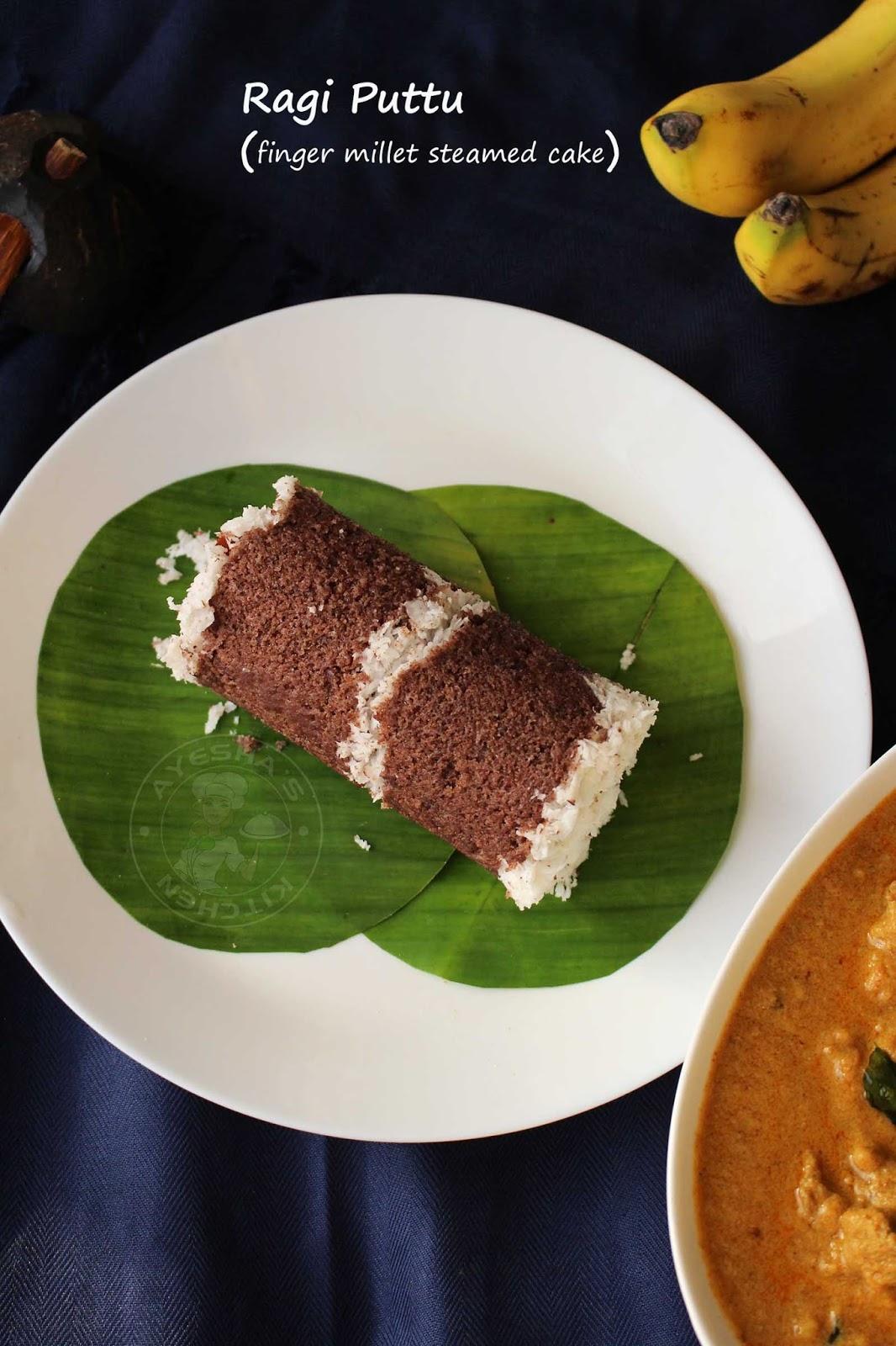 Soft And Perfect Ragi Puttu Recipe Finger Millet Steamed