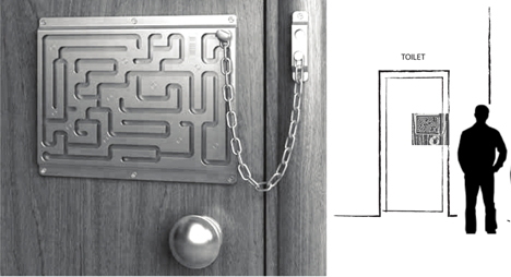 Awesome Labyrinth Security Door Chain   Source: Core77 Awesome Ideas