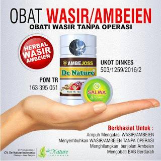 Obat Herbal Ambeien Ambejoss dan Salep Salwa De Nature Indonesia
