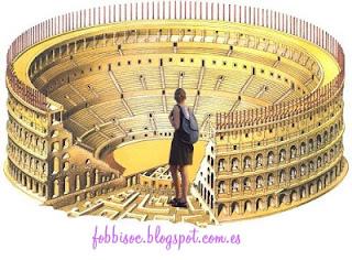 Imagen de chica ante un anfiteatro