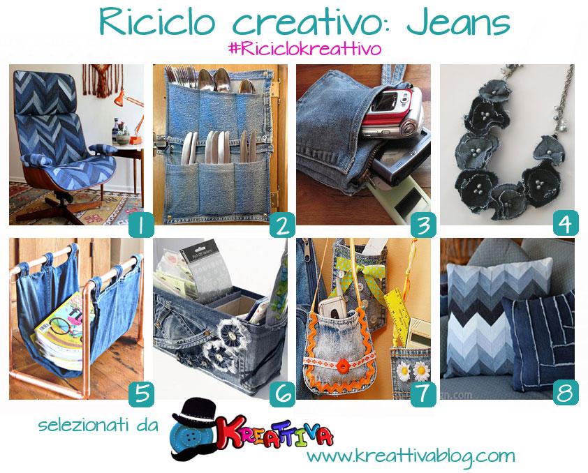 Favoloso 19 idee per un riciclo creativo dei jeans - Kreattivablog RY57