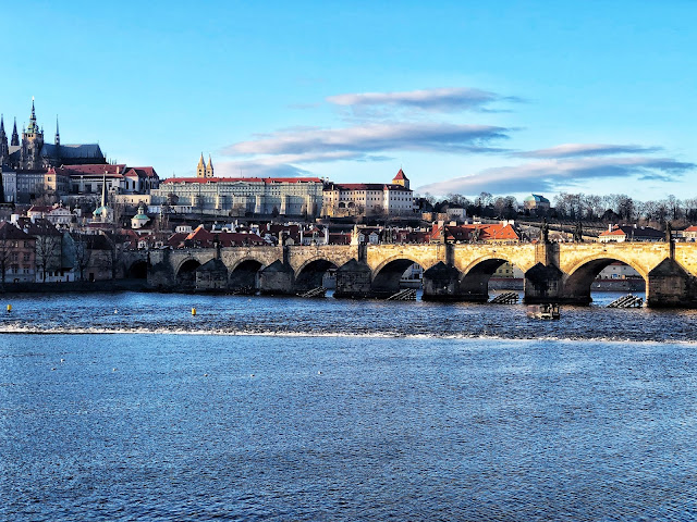 View of Charles Bridge from the river