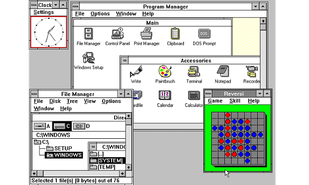 Tampilan Windows 3