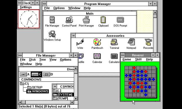 Tampilan Windows 3