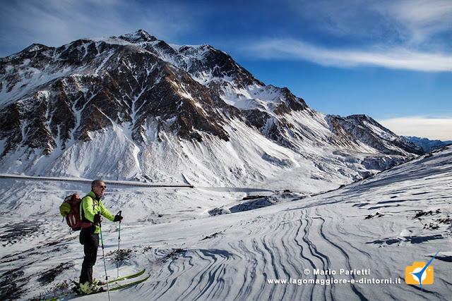 L'itinerario è  anche percorso scialpinistico