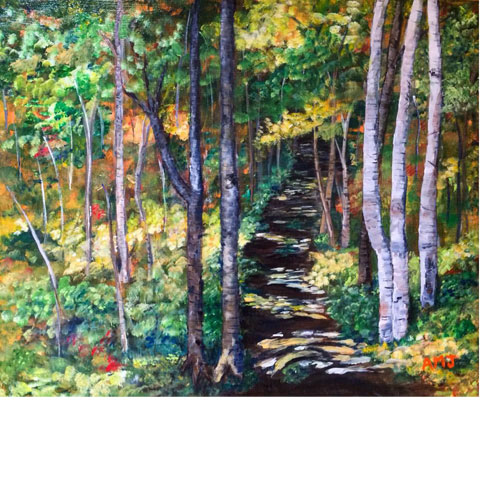"Corney Brook trail- 5""x7"" Art Card"