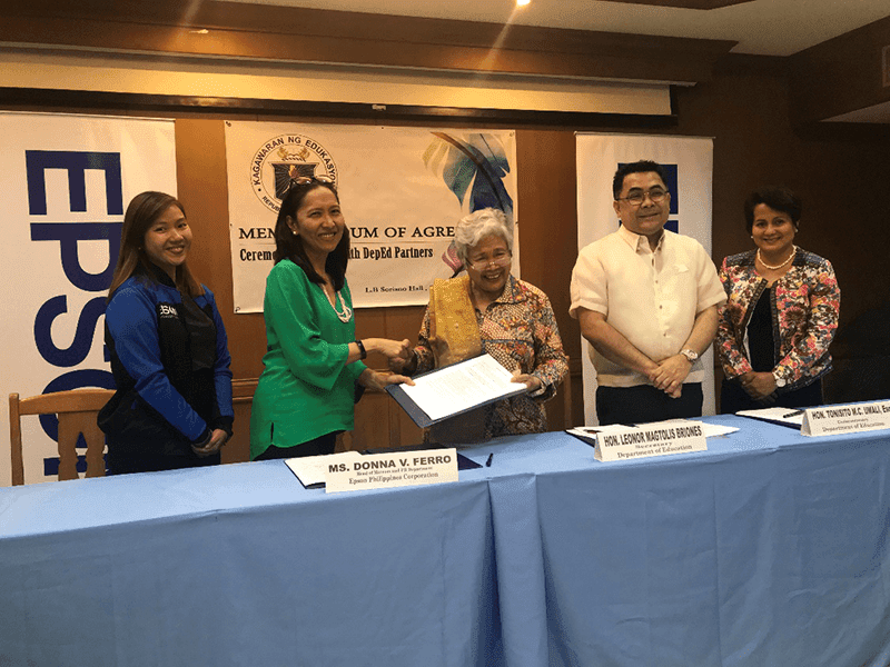Epson Philippines and DepEd strengthens the Gift of Brightness project