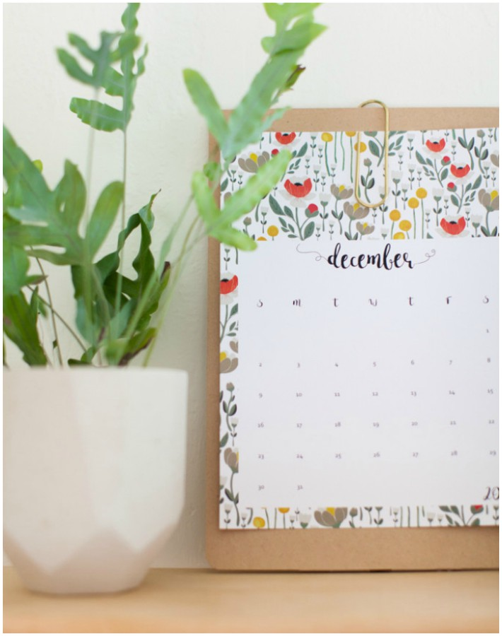 Calendario 2018 imprimible gratis