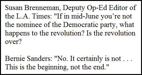 Bernie Sanders interview at L.A. Times