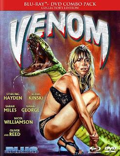 Carátula de la edición en Bluray de Venom, cortesía de Blue underground