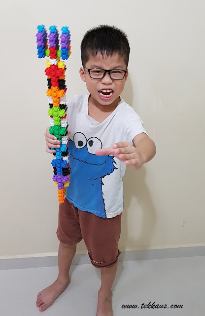 Jordan boy and his Lego Trident