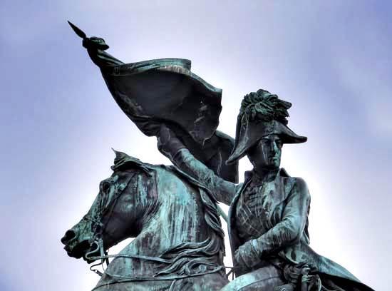 Archiduque Carlos, estatua en el Heldenplatz, Viena.