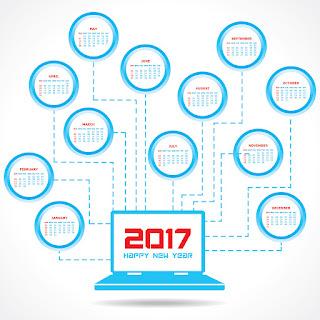 2017カレンダー無料テンプレート165