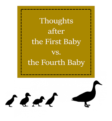 Thoughts after the First Baby vs. the Fourth Baby (and Beyond) -- Around Baby #4, a switch flips: you are now an expert at parenting babies, and everything changes.  {posted @ Unremarkable Files}