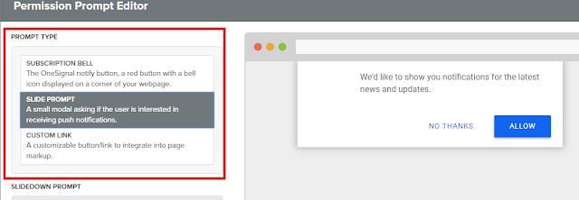 Cara Membuat Push Notifcation Web menggunakan PushCrew atau Onesignal di Blogger