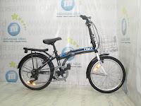 Sepeda Lipat Trex 6 Speed Keranjang 20 Inci