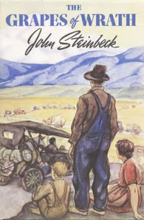Book cover: Grapes of Wrath by John Steinbeck