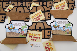 handmade pirate party invites