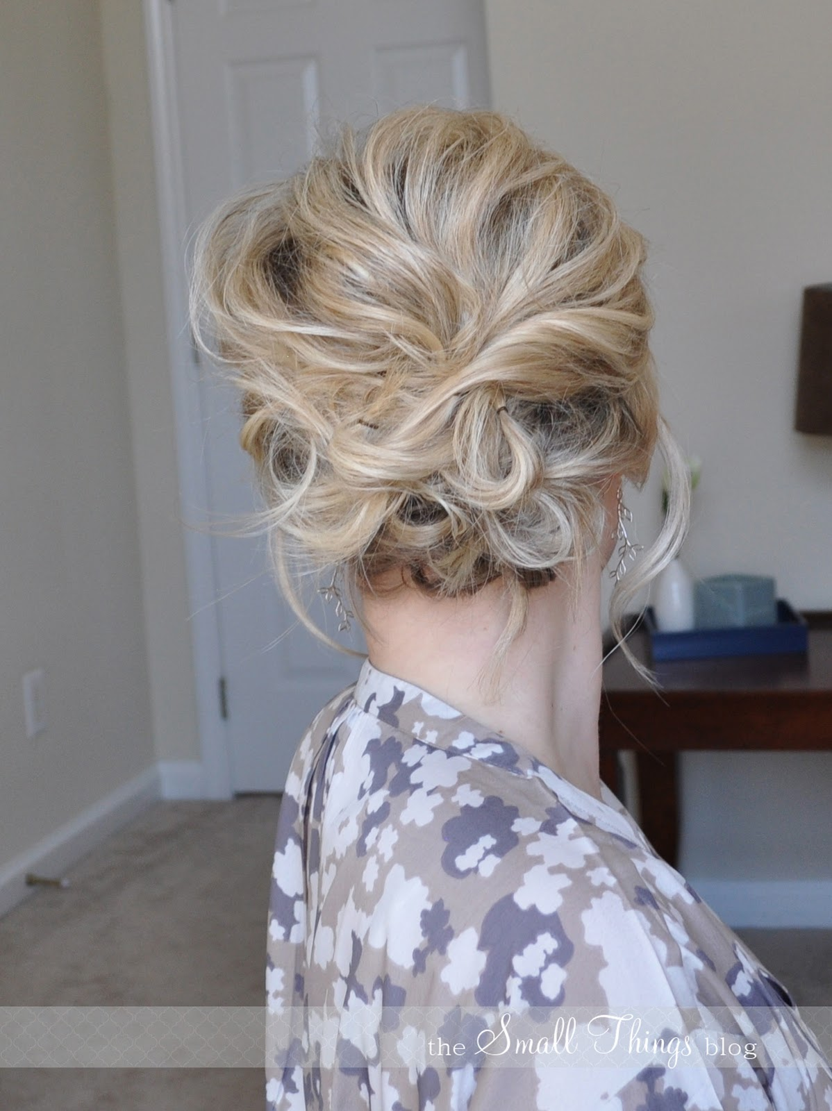 The Messy Side Updo The Small Things Blog