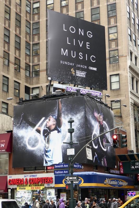 60th Grammys billboards
