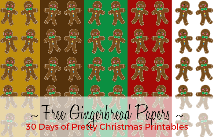 Free GIngerbread Boy Digital Papers from Grade ONEderful Designs