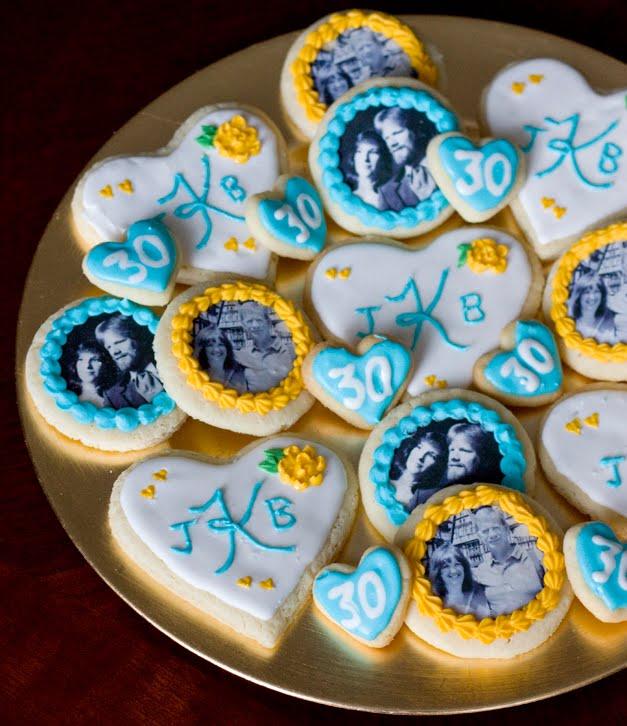 Erica's Sweet Tooth » Photo Transfer Anniversary Cookies