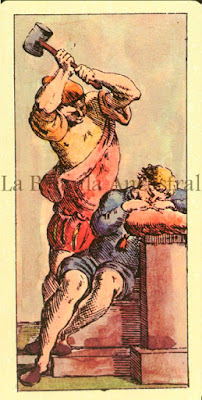 Tarot de Mitelli: El Colgado