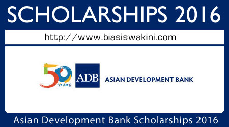 Asian Development Bank Scholarship 2016