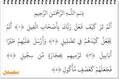 Kandungan surah ini ialah bagaimana Allah telah menjadikan tipu daya para tentara bergaja Surah Al-Fiil dan Artinya