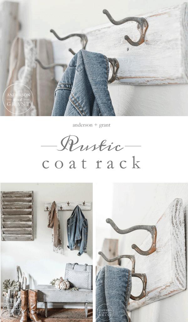 DIY Rustic Coat Rack Makeover Anderson Grant Extraordinary Anderson Coat Rack